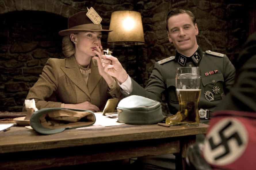 Diane Kruger and Michael Fassbender in <em>Inglourious Basterds</em>.