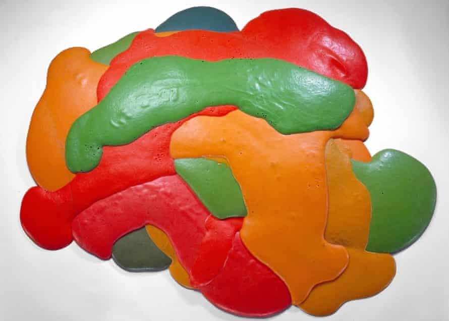 The artist's work Night Sherbert A from 1968, made in DayGlo pigment, phosphorescence and poured polyurethane foam.