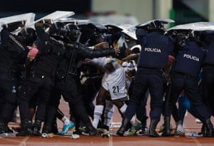 This is how Ghana's John Boye left the field at the end of the first half.