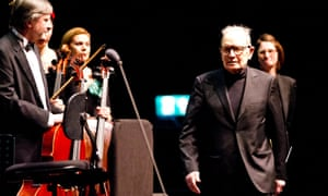 Ennio Morricone received a hero's welcome from the audience.