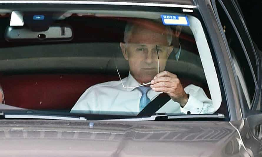 Malcolm Turnbull leaving Parliament House on Wednesday.