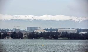 View of the Jura from Geneva.