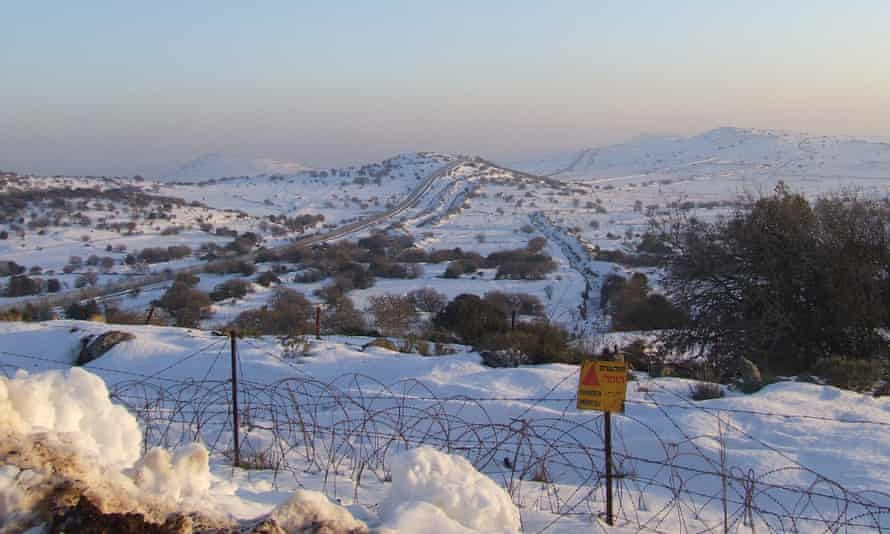 Minefield overlooking the Israel-Syria border. Trenches were formed as a defence against tanks.