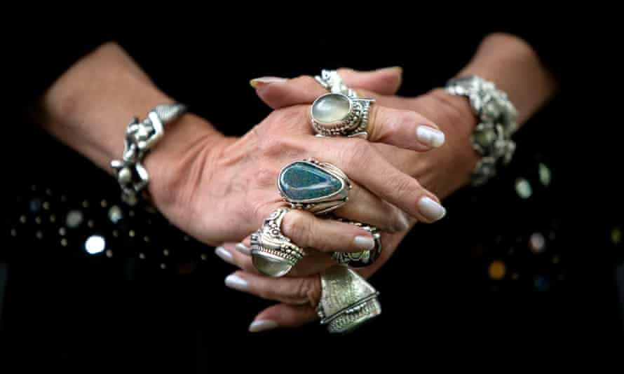 Jacqueline Wilson's famous bejewelled gothic rings