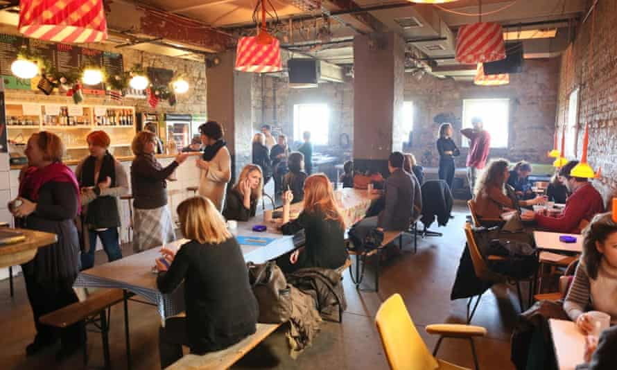KC Grad serves as a creative hub in Savamala, a rundown area near central Belgrade.