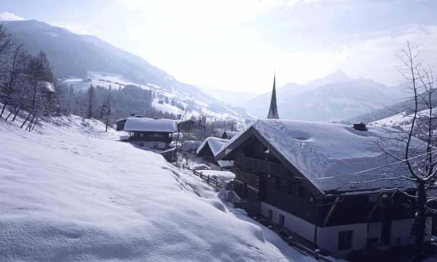 Alpbach, one of most beautiful villages in Austria, offers excellent skiing for intermediates.