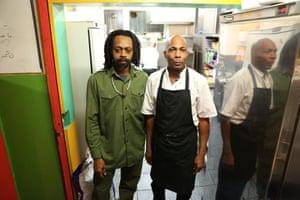 Chefs George Stewart and Hubert Robinson.