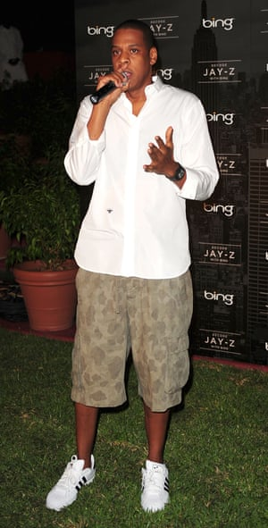 Jay Z in his Superstars last year