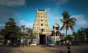 The Nallur Kandaswamy Hindu temple in Trincomalee, on the northern tip of Sri Lanka.