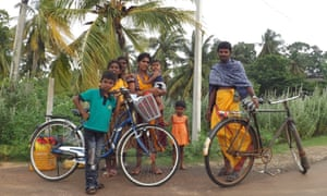 The Surenthirans, on a family outing to the Hindu temple.