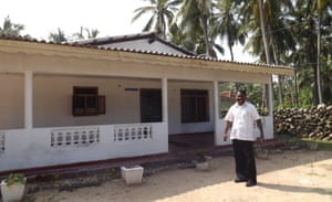 Father David outside his home on Delft island.