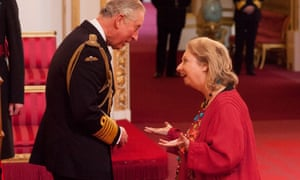 Hilary Mantel talks to the Prince of Wales during her investiture