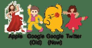 A smattering of dancer emoji.