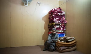 Afghanistan, Torkham, February 5, 2015 Jawed, an Afghan man with no possessions receives assistance at IOM's transit centre after returning back into Afghanistan after one year in Pakistan. IOM is trying to locate his family.
