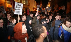 Protests against Marine Le Pen's appearance at Oxford Union