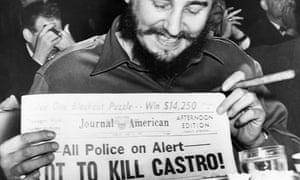 Fidel Castro displays murder plot headline