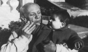 Marina Picasso with her grandfather