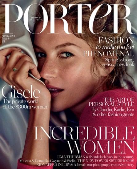 Porter's launch cover featured model Gisele Bundchen