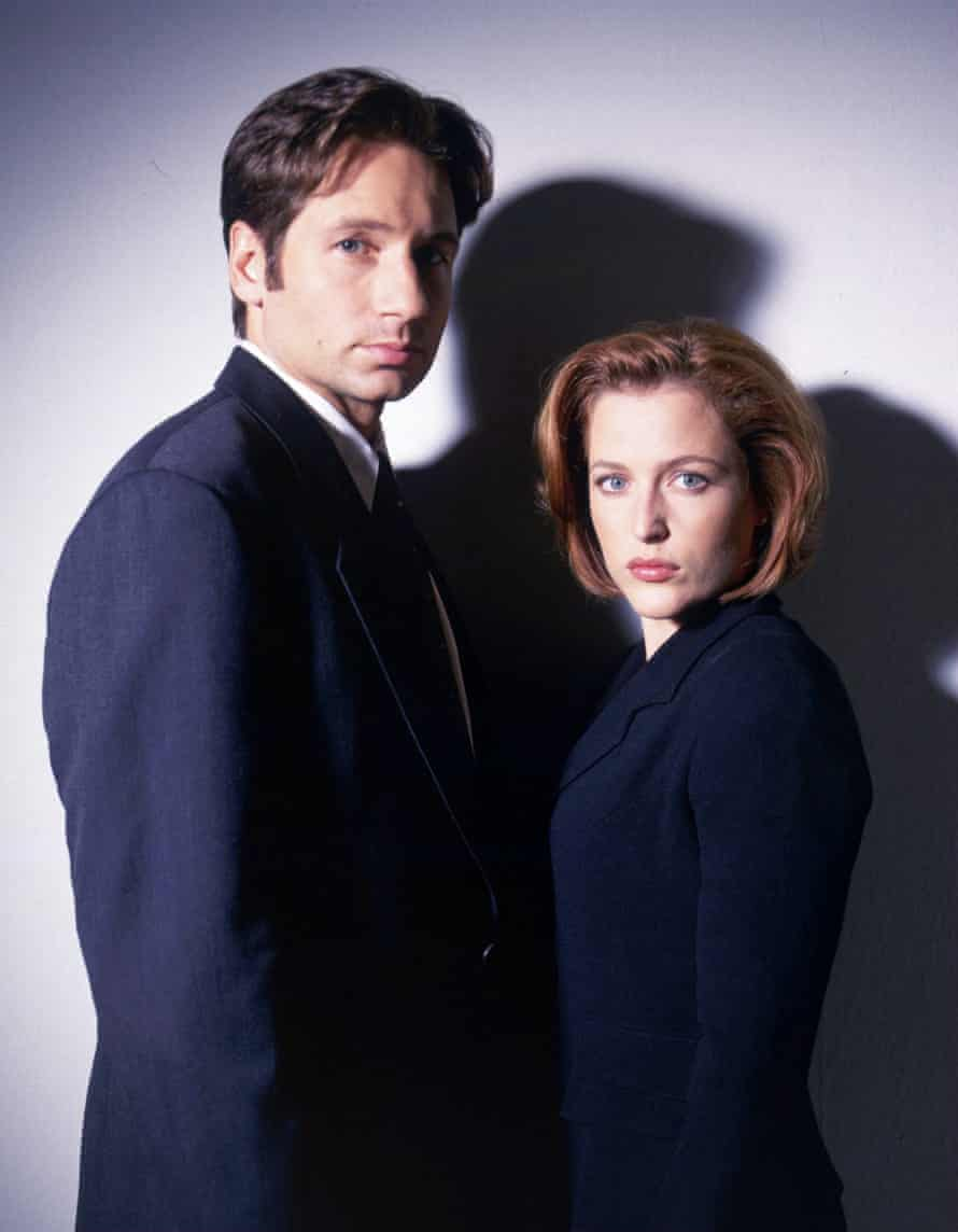 With David Duchovny in The X-Files.