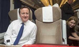 David Cameron travelling by train to Doncaster, Britain - 05 Feb 2015
