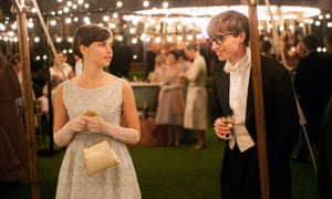 With Eddie Redmayne in The Theory of Everything.