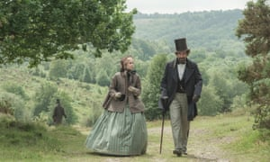 In The Invisible Woman with Ralph Fiennes as Charles Dickens.