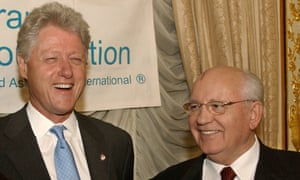 Bill Clinton and Mikhail Gorbachev – joint Grammy winners with, of all people, Sophia Loren.