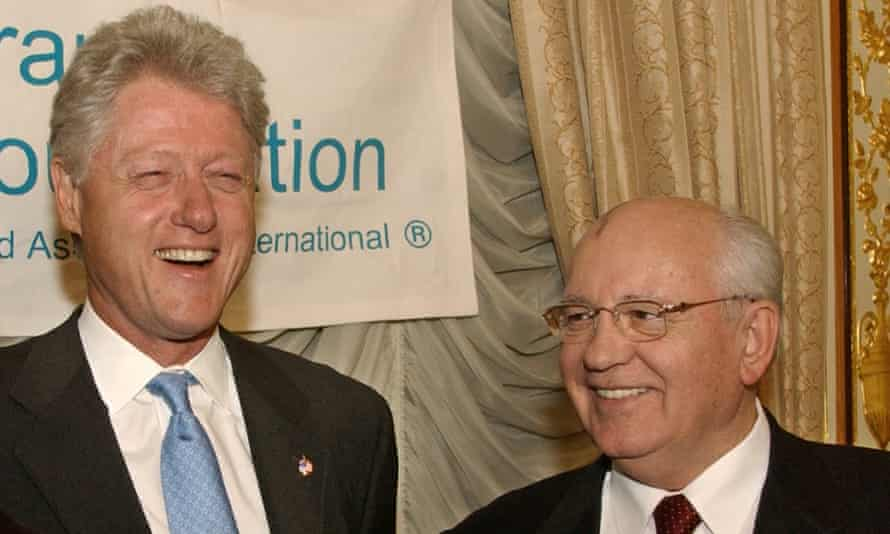 Bill Clinton and Mikhail Gorbachev –joint Grammy winners with, of all people, Sophia Loren.