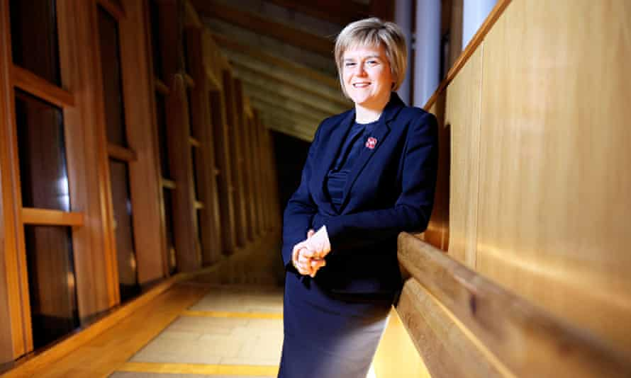 Nicola Sturgeon at the Scottish Parliament, Edinburgh, Scotland, Britain - 05 Nov 2014