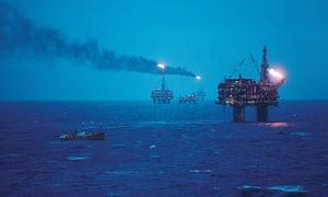 Oil rigs in the Brent oil field