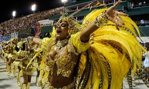 Dancers from the Beija-Flor samba school