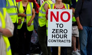 Hovis workers on strike against the introduction of zero hours contracts.