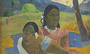 Detail from <em>Nafea Faa Ipoipo?</em> or When Will You Marry? by Paul Gauguin.