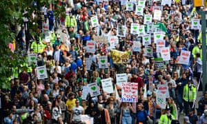 The 'People's Climate March' in London last year was attended by 40,000 people as part of a global day of action.