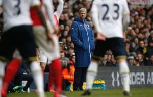 Arsene Wenger still looks concerned