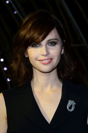Felicity Jones, nominated for Best Actress in The Theory of Everything