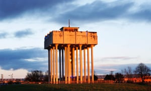Old water towers at Cranhill. Possibly the area's most famous former residents are Angus Young and brother Malcolm who found stardom after they moved to Australia and formed AC/DC. Their now demolished house stood in front of this strange feature.