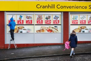 One pound bargains at Cranhill Convenience Store in Cranhill.