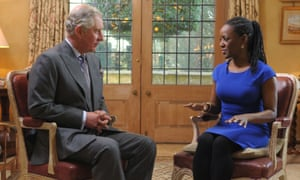 Prince Charles being interviewed by Diane-Louise Jordan for BBC Radio 2's The Sunday Hour.