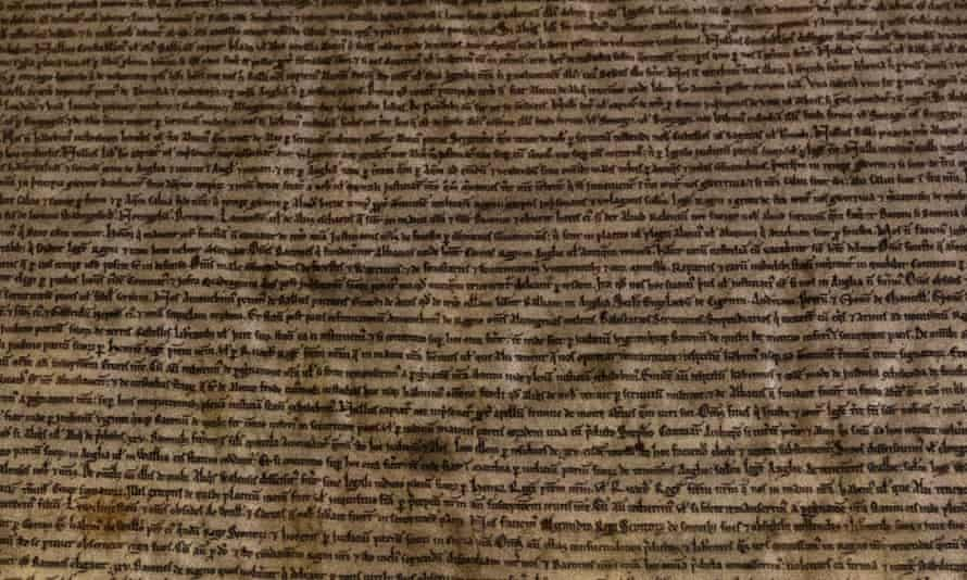 Detail from the Salisbury Magna Carta.