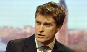 Shadow education secretary Tristram Hunt appearing on BBC1's The Andrew Marr Show.