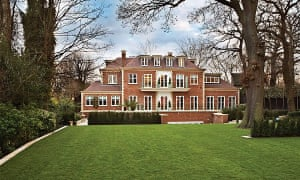 Richard Caring's mansion in London, known as 'Versailles of Hampstead'.