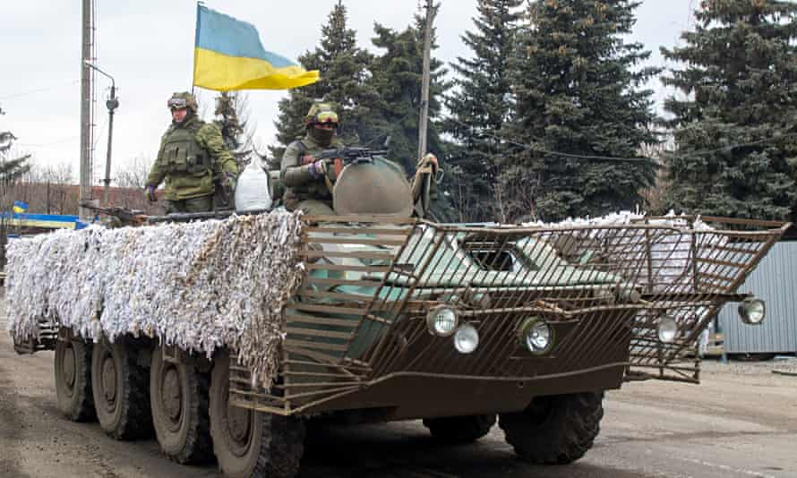 Ukraine servicemen near Donetsk