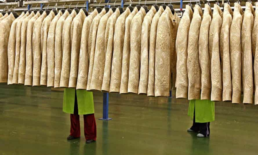 Workers at a Zara factory at the HQ of Inditex group in Arteixo, Spain.