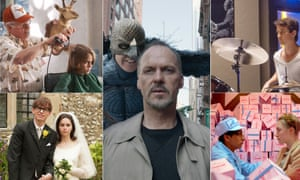 Boyhood; Birdman; Whiplash; The Theory of Everything; The Grand Budapest Hotel
