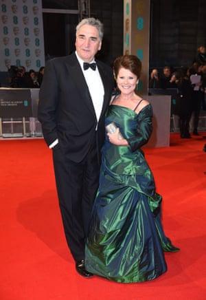 HIT: Jim Carter and Imelda Staunton in Vivienne Westwood