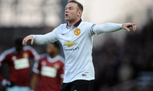 Wayne Rooney, West Ham v Manchester United