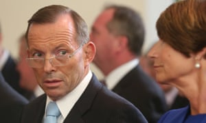 The Prime Minister Tony Abbott at a special Ecumenical Service before the start of the Parliamentary year this morning at Canberra Baptist church in Kingston, Monday  9th February 2015.
