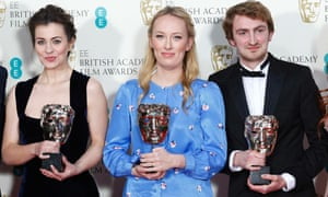 Bigger Picture … Writer Jennifer Majka, animator and director Daisy Jacobs and producer Chris Hees, winners of the best short animation Bafta