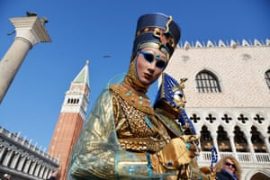 Some ancient Egyptians seem to have found a place among the more traditional Venetian characters